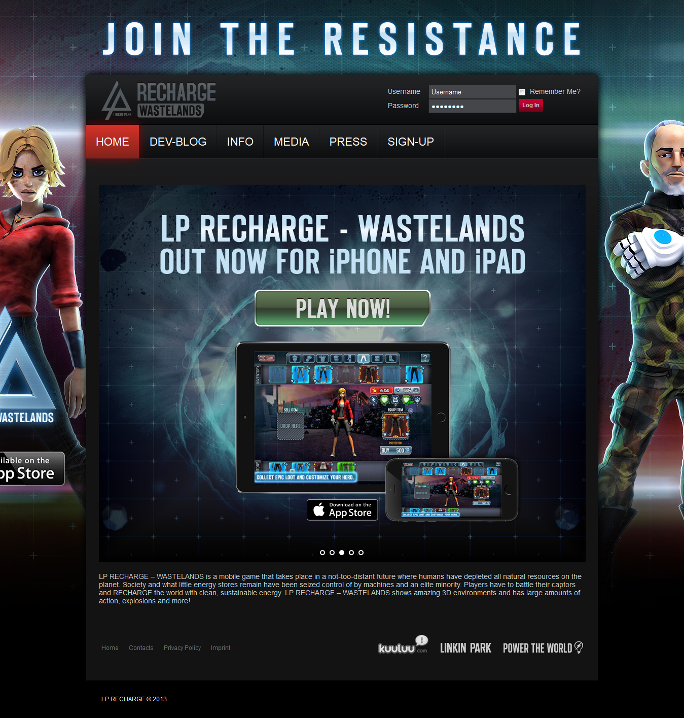 LP RECHARGE JOIN THE RESISTANCE
