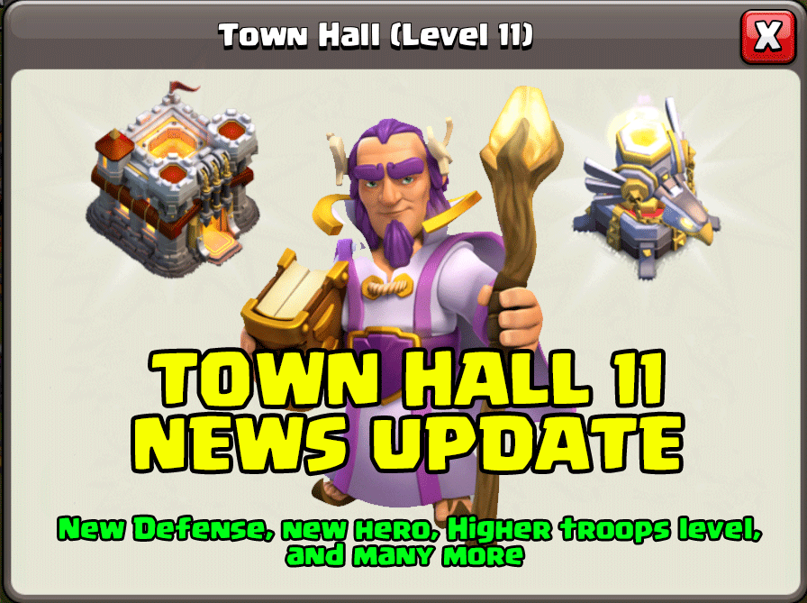 TH 11 News Update – Clash of Clans