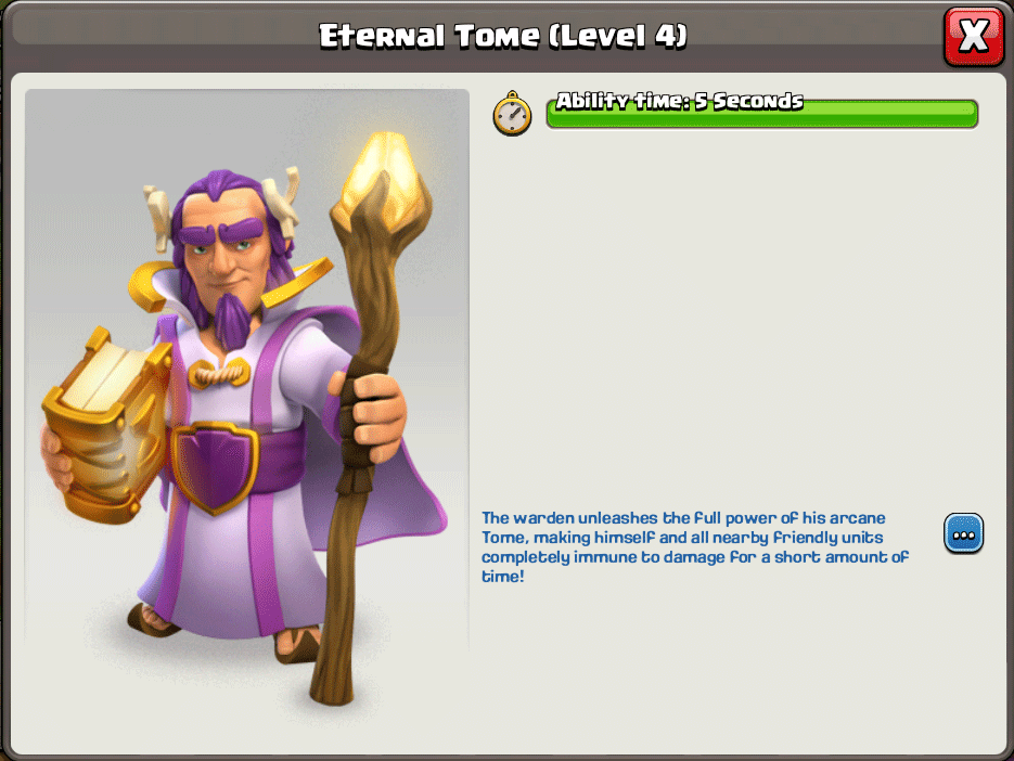 grand warden eternal tome info