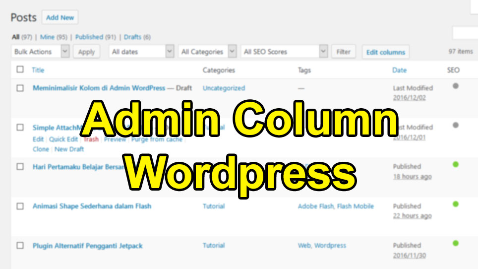 admin column wordpress