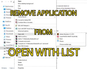 Menghapus List Open With Windows