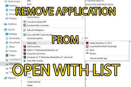 tampilan remove apps list