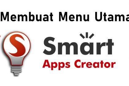 membuat menu di smart apps creator (sac)